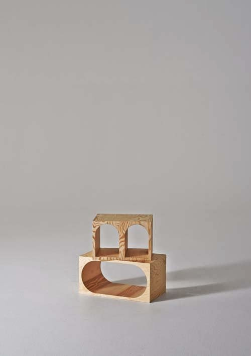 Natural furniture made of plywood by Erik Olovsson and Kyuhyung Cho