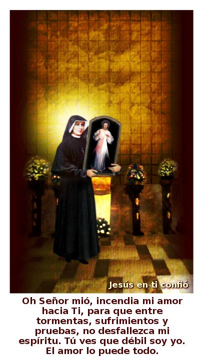oracion de santa faustina para pedir amor divino