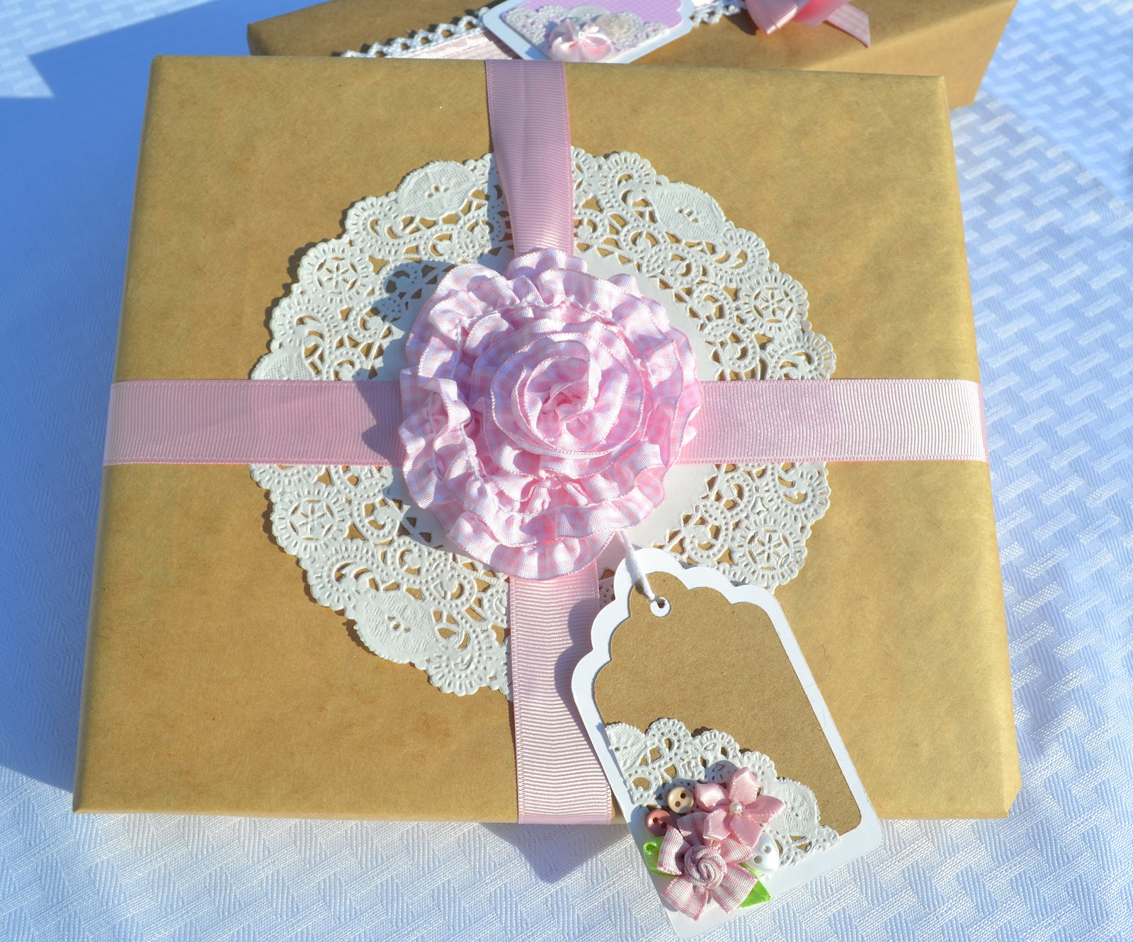 corner of plaid and paisley baby shower gift wrap, Baby shower