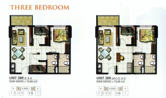2+1 Bedrooms