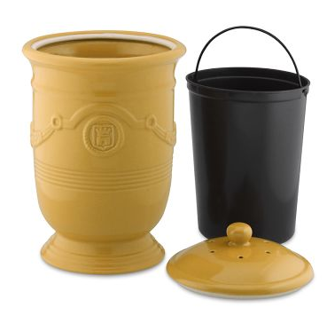 Stoneware Compost Pot With Liner Pail