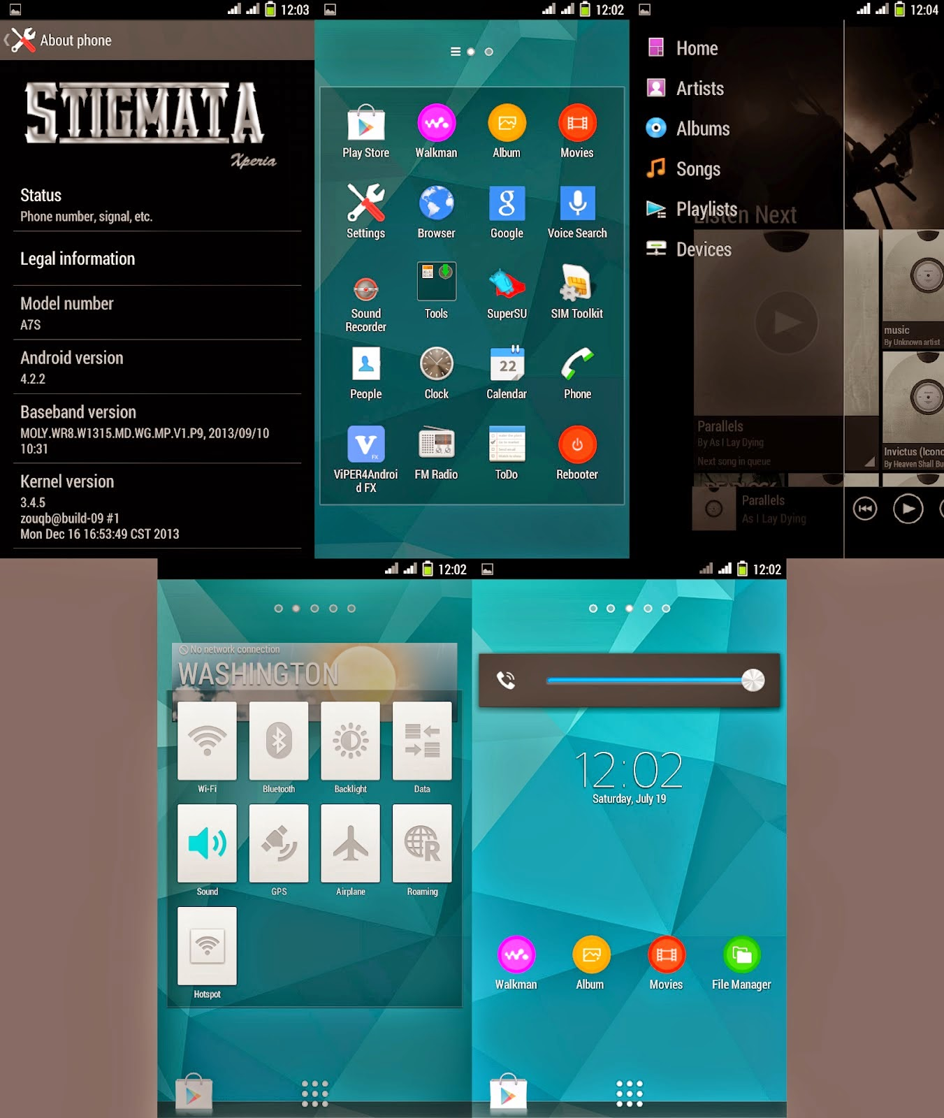 Custom ROM Stigmata Xperia untuk Evercoss A7S Terbaru | Keren!