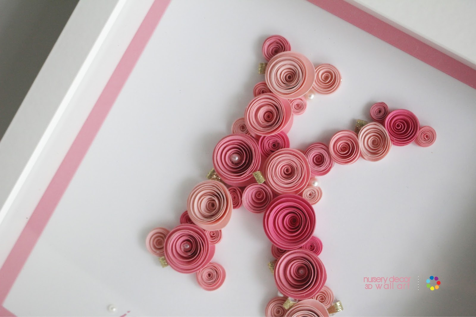 Rose Wall Decor nursery decor letter-paper roses | wall art | party favors place