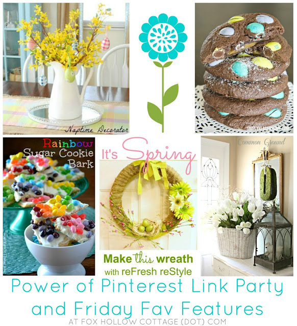 Power of pinterest link party and friday fav features fox hollow cottage - Pinterest craft ideas for home decor property ...