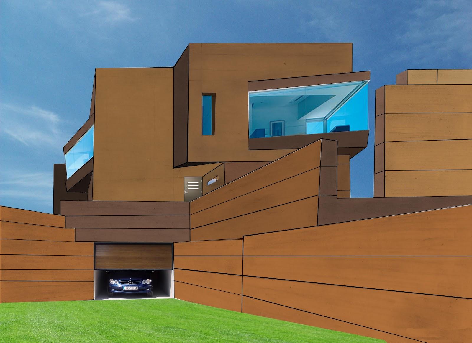 Dibujo y dise o digital casa modular - Casa modular diseno ...