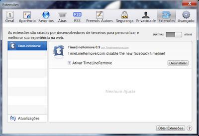 remover linha do tempo facebook 2012