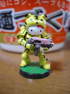 Hello Kitty Warhammer 40k Space Marine tiger armor