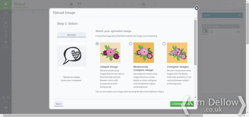 uploading images into Cricut Design Space