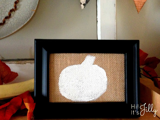 Framed Burlap Pumpkin Tutorial and Fun Fall Home Decor from Hi! It's Jilly