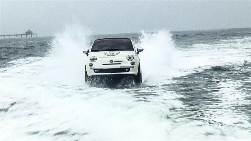 YES, the swimming Fiat 500 is Real!