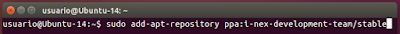 sudo add-apt-repository ppa:i-nex-development-team/stable