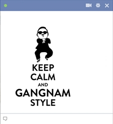 Keep Calm And Gangnam Sytle Picture Symbol For Facebook Chat