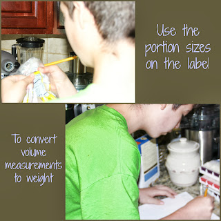 measure baking ingredients by weight