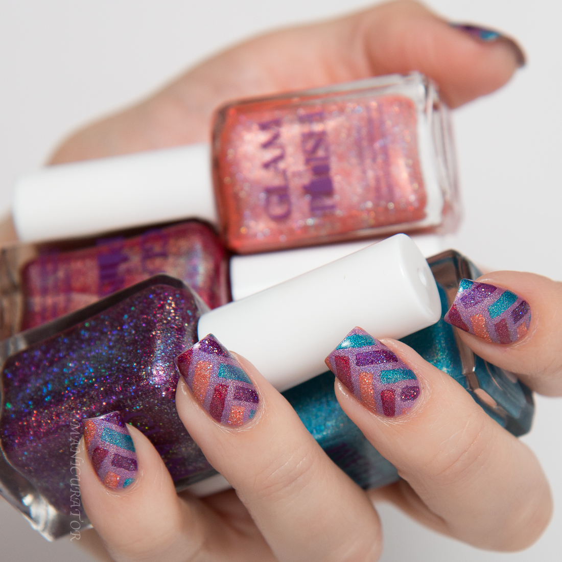 Glam Polish Knockout Collection Part 2 Swatch Review Herringbone
