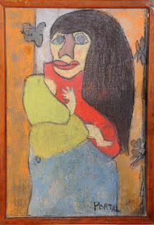 artiste peintre montpellier - Femme a l'enfant