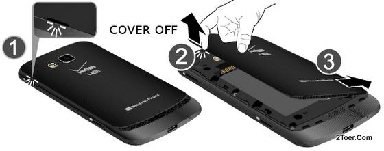 Open Back Cover Casing Samsung Ativ Odyssey SCH I930