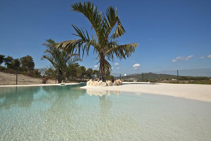 Piscina de arenas tropicales lucas gunitec - Piscina tipo playa ...