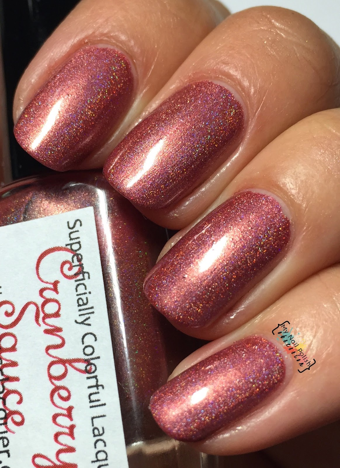 Superficially Colorful Lacquer Cranberry Sauce