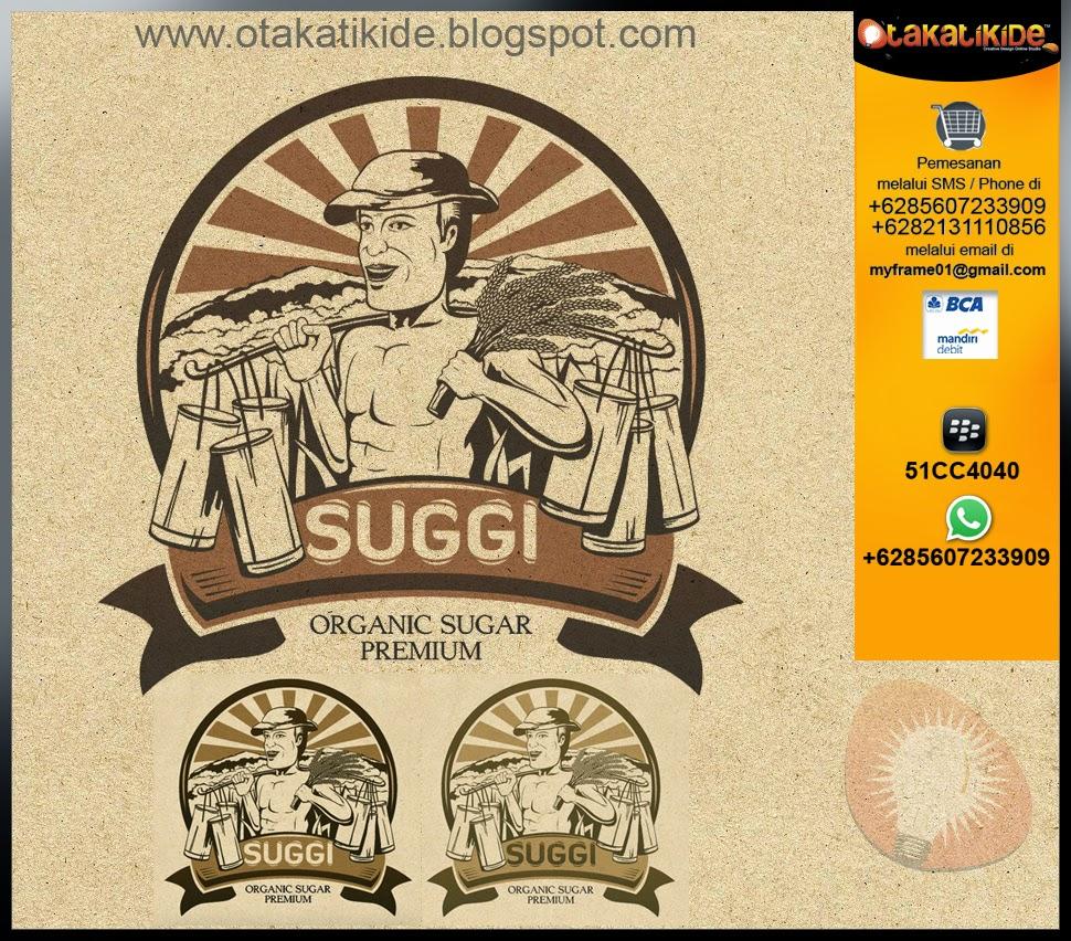 jasa desain logo label produk makanan gula surabaya sidoarjo gresik jakarta jawatimur