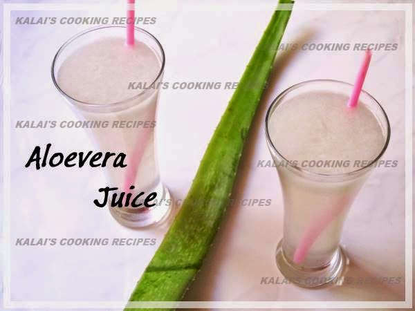 Simple Aloevera Gel | Katrazhai Juice - Summer Special Cool Drink