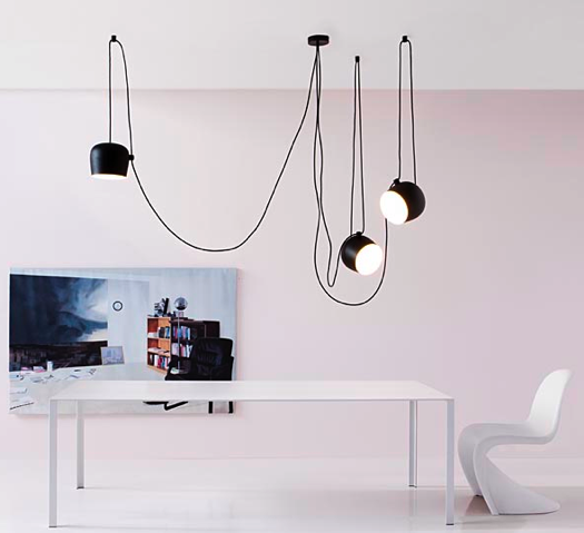 iconic lighting wriggle their way around trees designers ronan and erwan bouroullec created the aim light fixture for flos an italian manufacturer of iconic lighting mod design guru fresh ideas cleverly modern design must