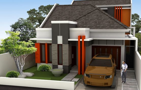 inilah tampilan tampak depan rumah minimalis type 36 45 70