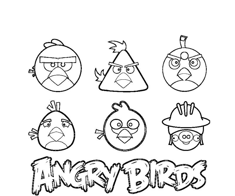 Angry Birds Go Kart Coloring Pages