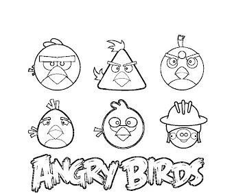 #9 Angry Birds Coloring Page