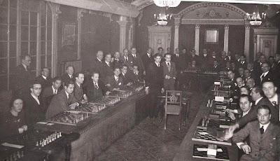 Simultáneas impartidas por Andor Lilienthal en el Círculo Artístico en 1934