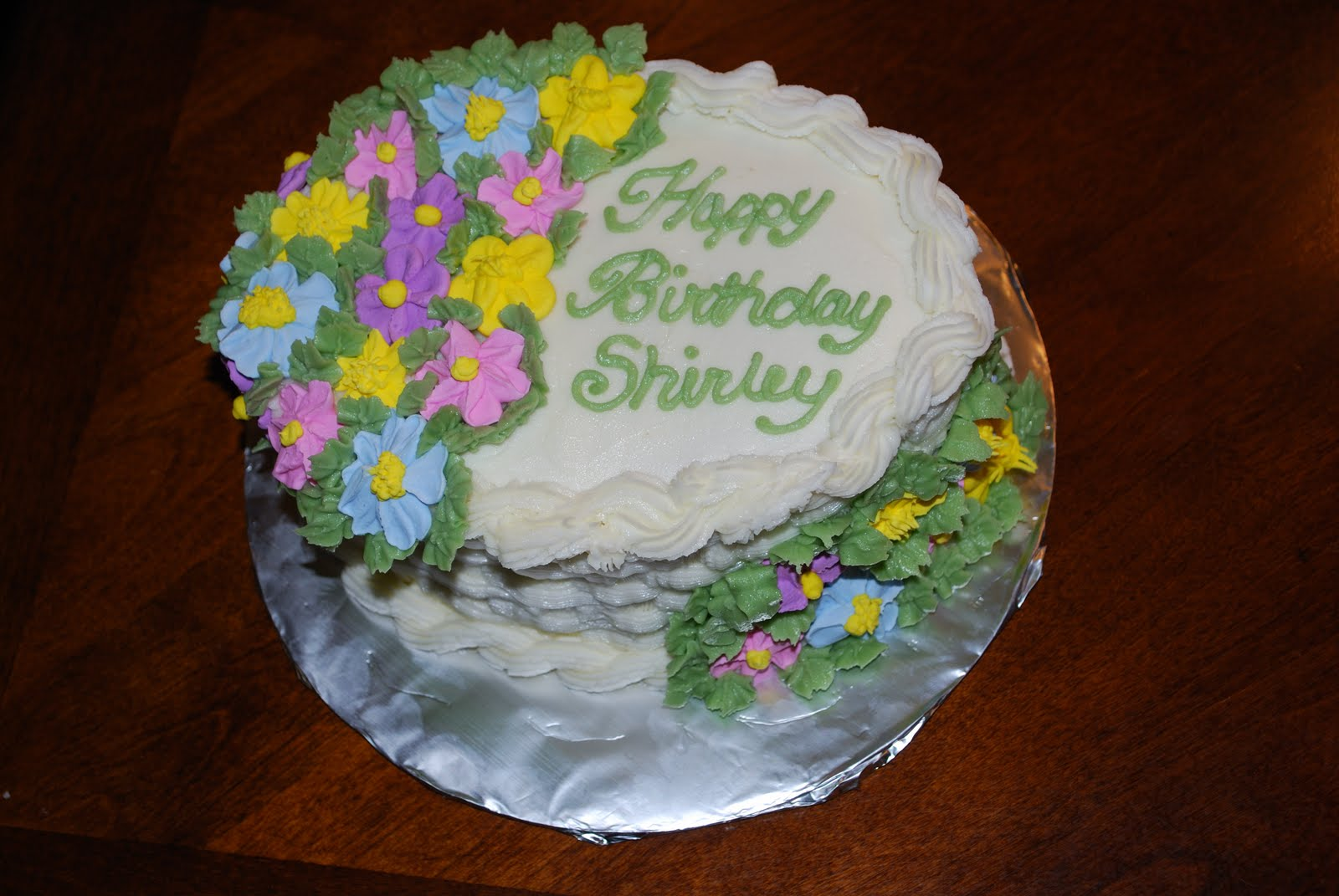 Images Of Birthday Cake With Bouquets : Kristy s Kreations: Happy Birthday Spring Flowers Cake