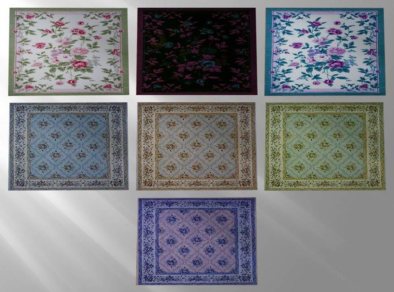 My sims 3 blog shabby chic rugs by mina sasha for Tapis shabby chic