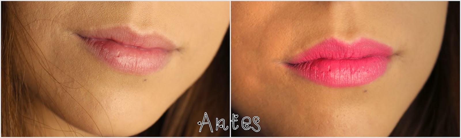 lábios não esfoliados