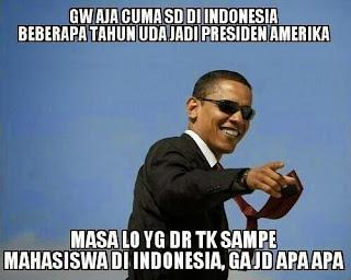 dp bbm foto gambar meme presiden obama