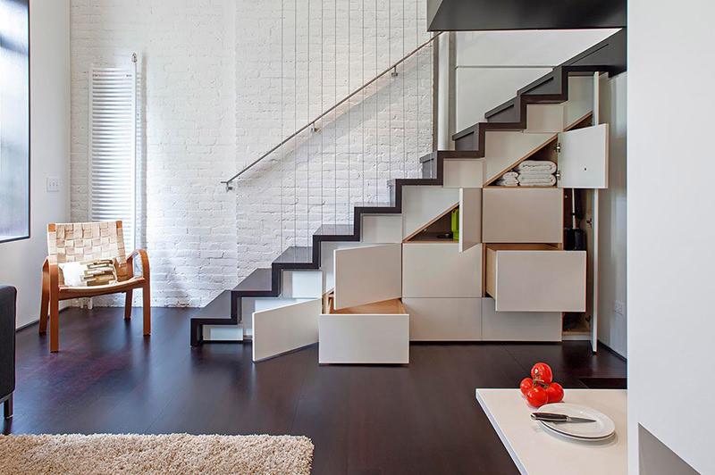 10 ideias criativas e úteis para móveis e objetos: Escada gaveta/estante