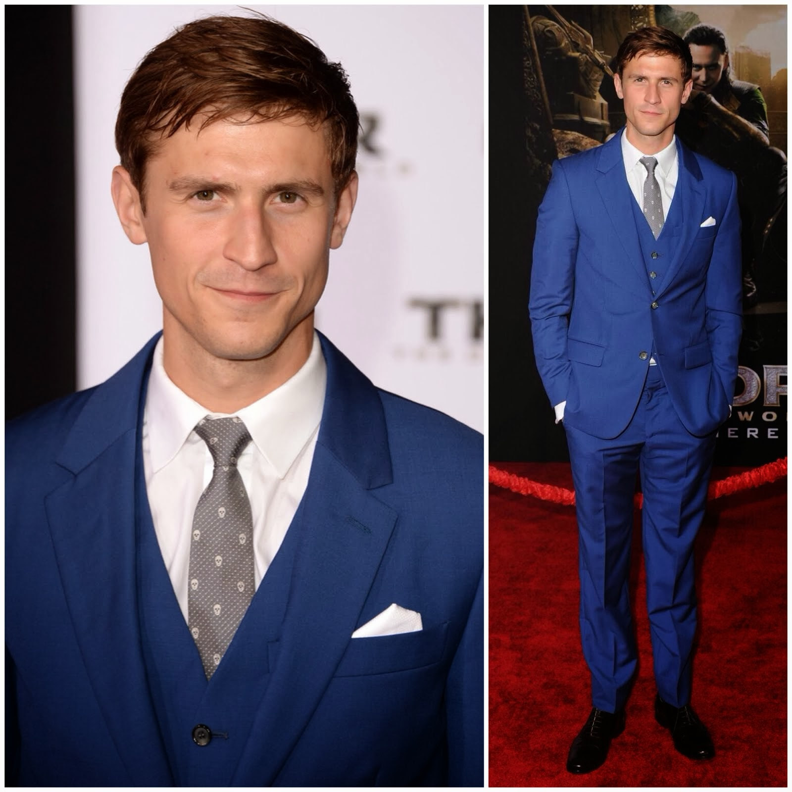 00O00 Menswear Blog: Jonathan Howard in Alexander McQueen - 'Thor: The Dark World' Hollywood Premiere