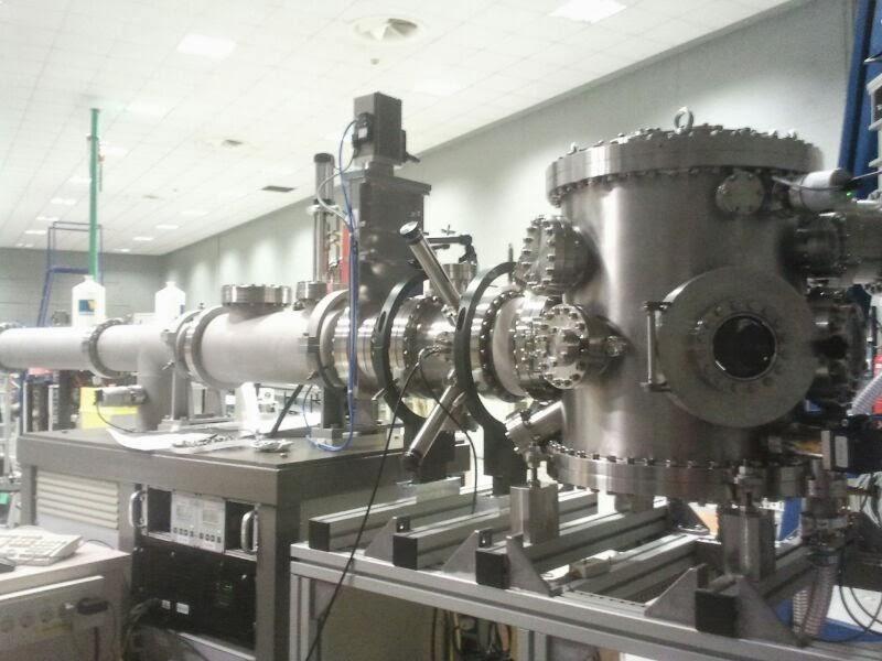 Vía para análisis de materiales estándar. Entre otras estaba la nuclear.