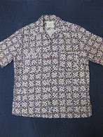 画像① 50's 「Alfred」              GEOMETRICAL PATTERN              HEAVY RAYON SHORT SLEEVE SHIRTS