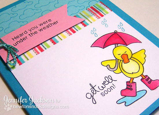 Duck Get well Soon Card using Spring Showers Set by Newton's Nook Designs