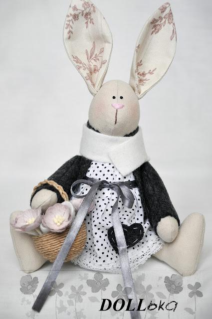 зайка по выкройке Т.Конне текстильная игрушка ручной работы