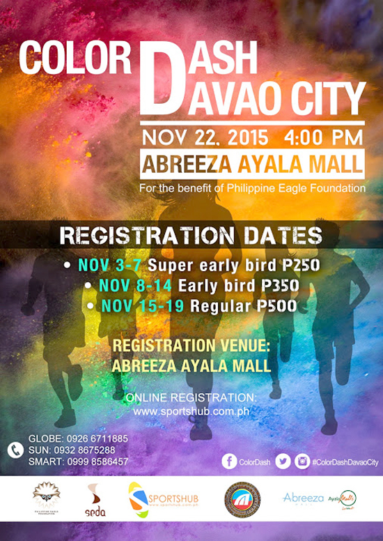 COLOR DASH 2015 WILL BE IN DAVAO CITY ON NOV 22