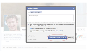 Facebook Charging $100 to Message Mark Zuckerberg