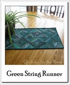 Green String Table Runner Free Tutorial at Freemotion by the River