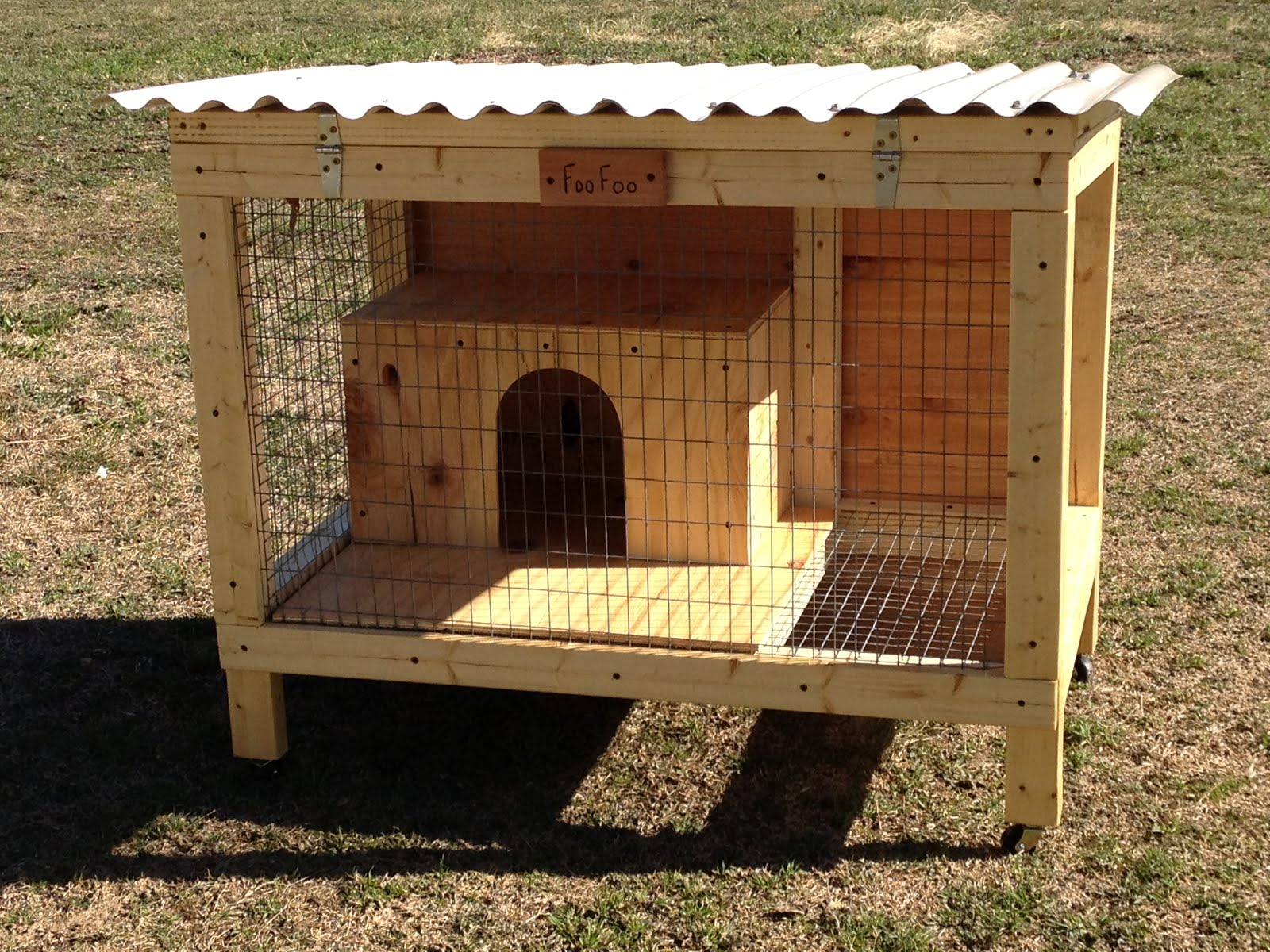 Coops by ty hutches thurber for Homemade bunny houses