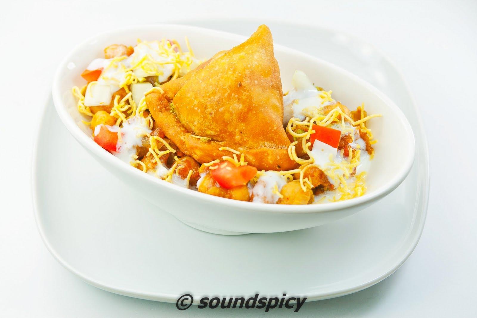 Samosa chaat   Sound'spicy