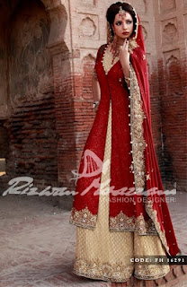 Red and Maroon Trendy Bridal Dresses