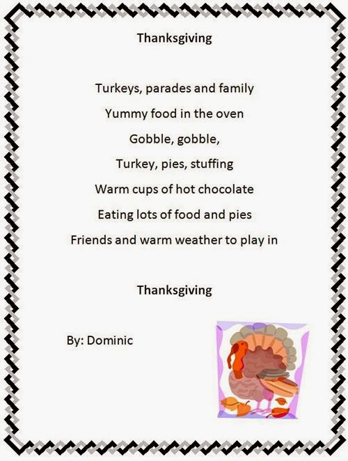 Top Thanksgiving Poem For Preschoolers