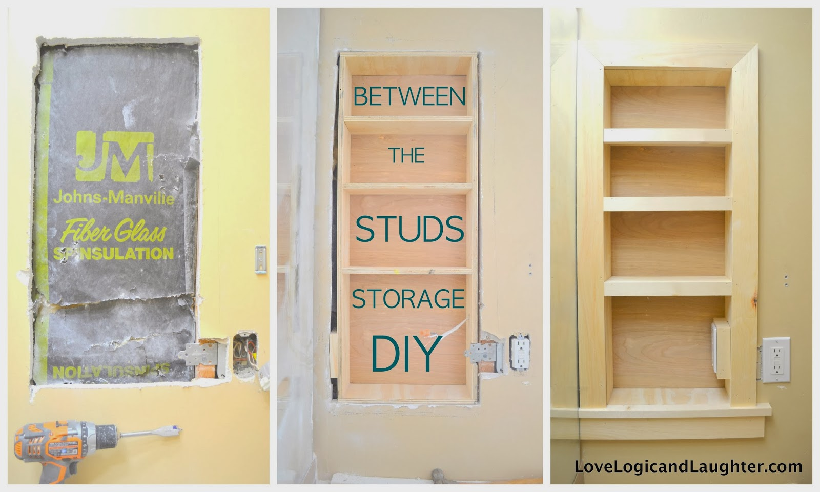 Make It Mommy: Between the Studs Storage - A Tutorial