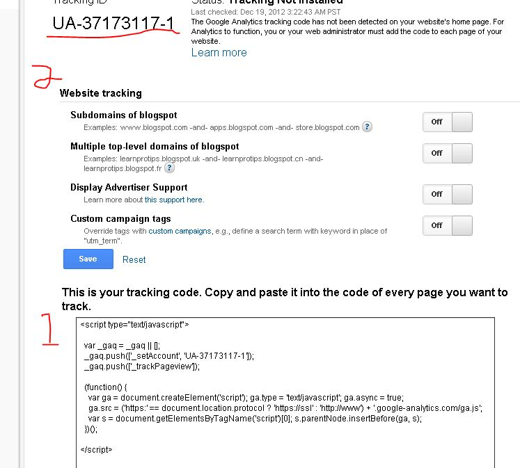 how to add tracking code in html hostgator