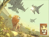 Pride of Baghdad page image by Brian K. Vaughan and Niko Henrichon