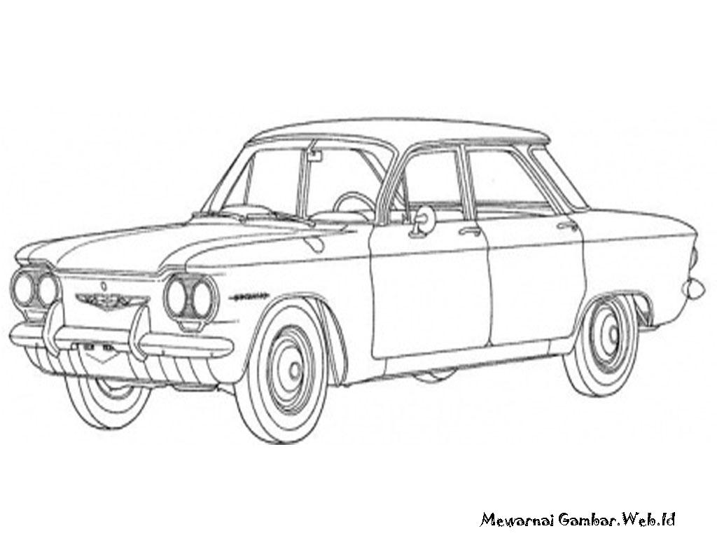 Gambar Mewarnai Mobil Antik Klasik Mewarnai Gambar